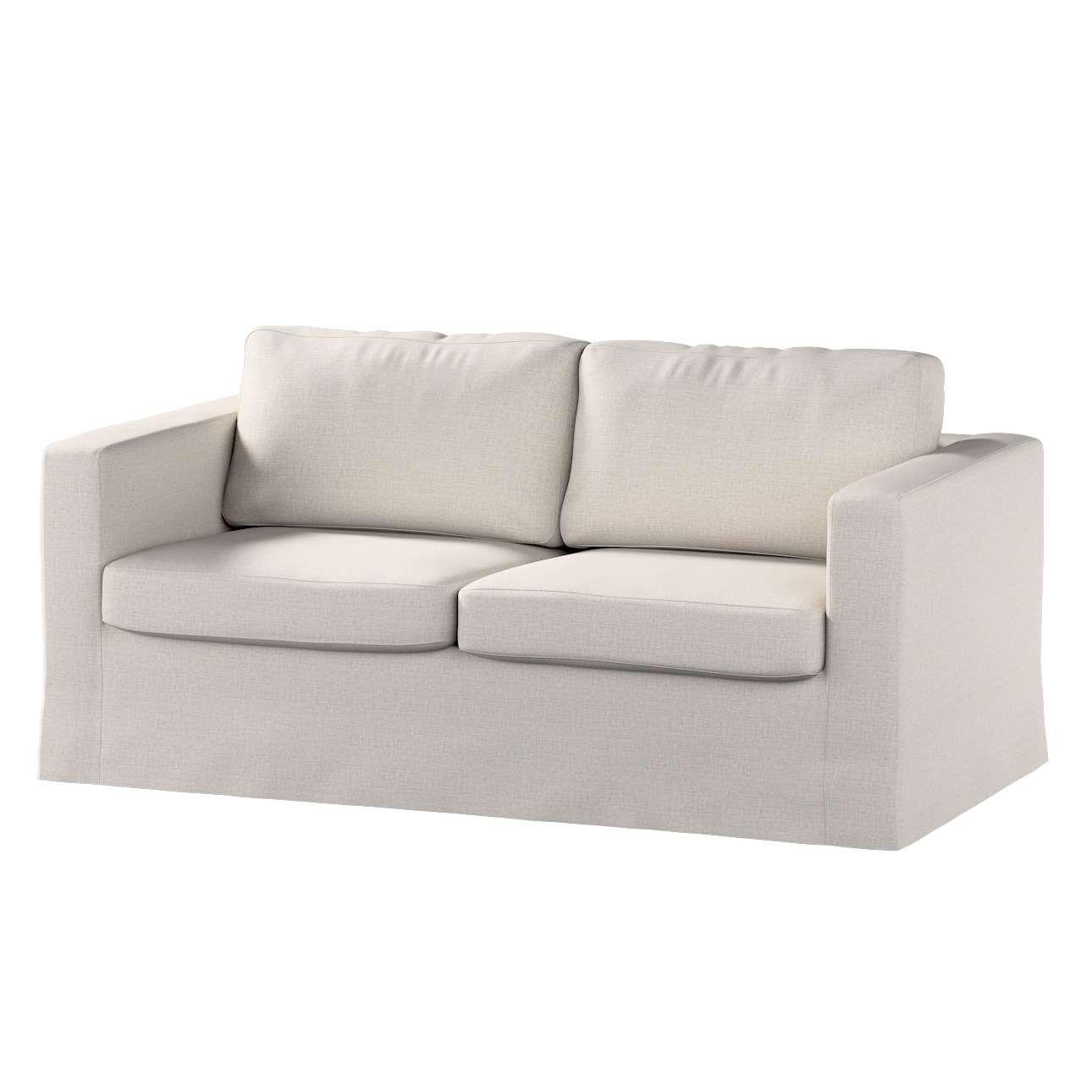 Pokrowiec na sofę Karlstad 2-osobową nierozkładaną długi w kolekcji Living, tkanina: 161-00