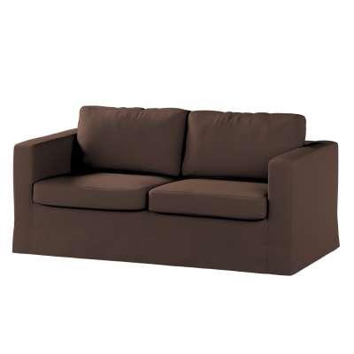 Pokrowiec na sofę Karlstad 2-osobową nierozkładaną długi 161-73 czekoladowy brąz Kolekcja Bergen