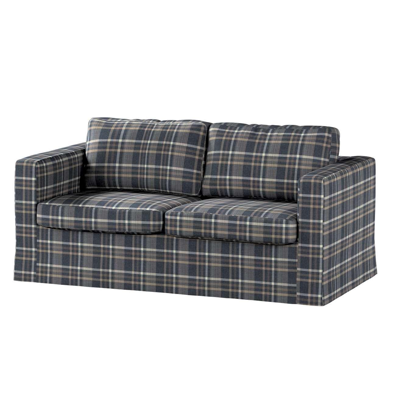 Pokrowiec na sofę Karlstad 2-osobową nierozkładaną długi w kolekcji Edinburgh, tkanina: 703-16