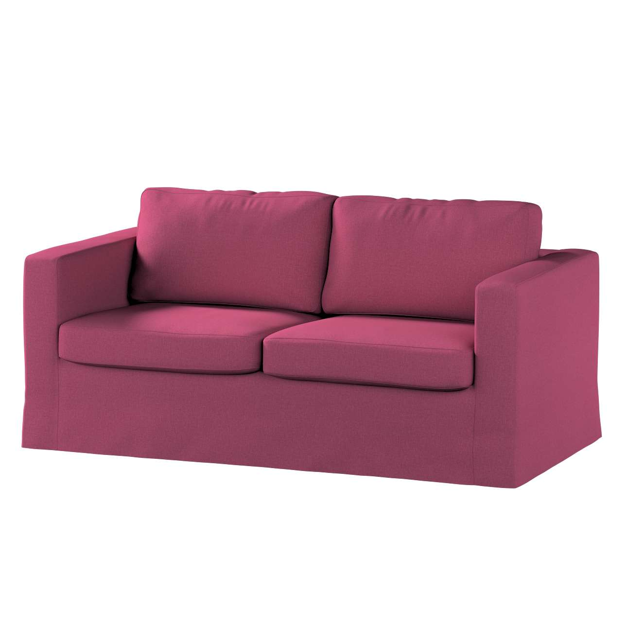 Pokrowiec na sofę Karlstad 2-osobową nierozkładaną długi w kolekcji Living, tkanina: 160-44
