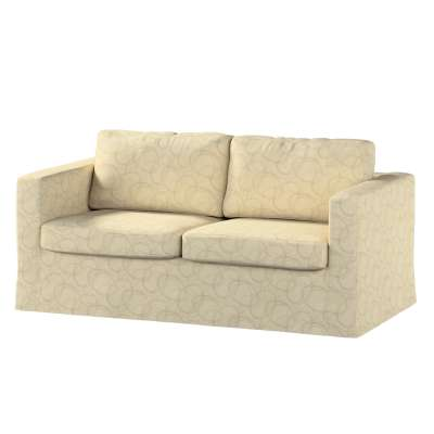 Pokrowiec na sofę Karlstad 2-osobową nierozkładaną długi 161-81 geometryczny wzór na kremowym tle Kolekcja Living