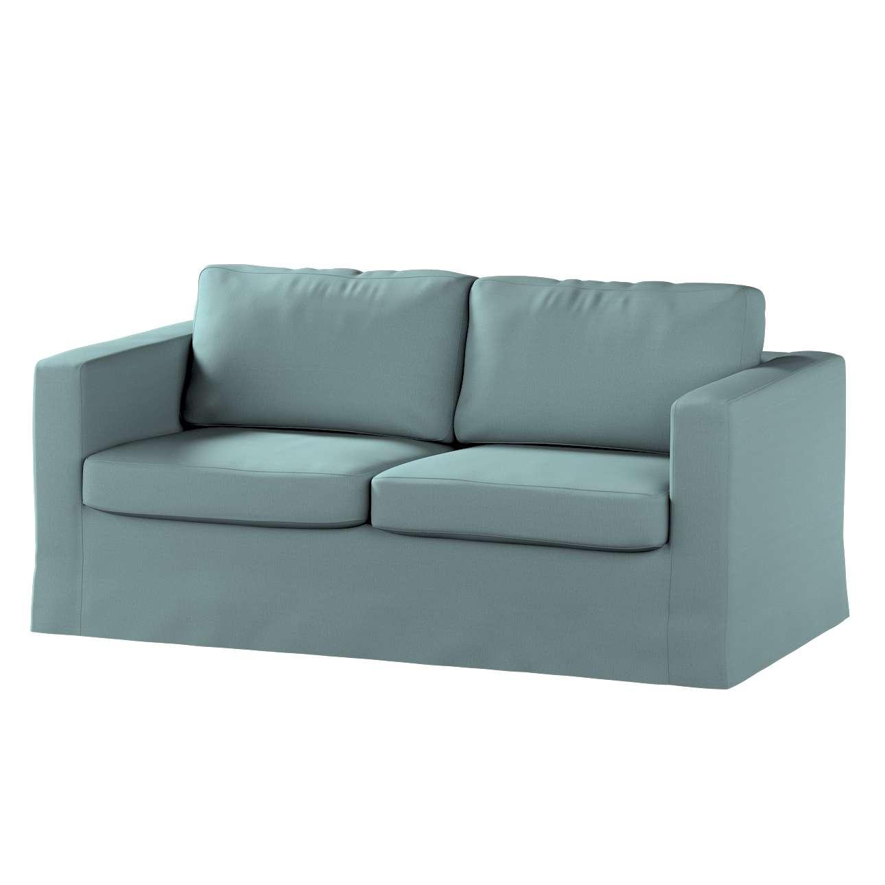 Pokrowiec na sofę Karlstad 2-osobową nierozkładaną długi w kolekcji Cotton Panama, tkanina: 702-40