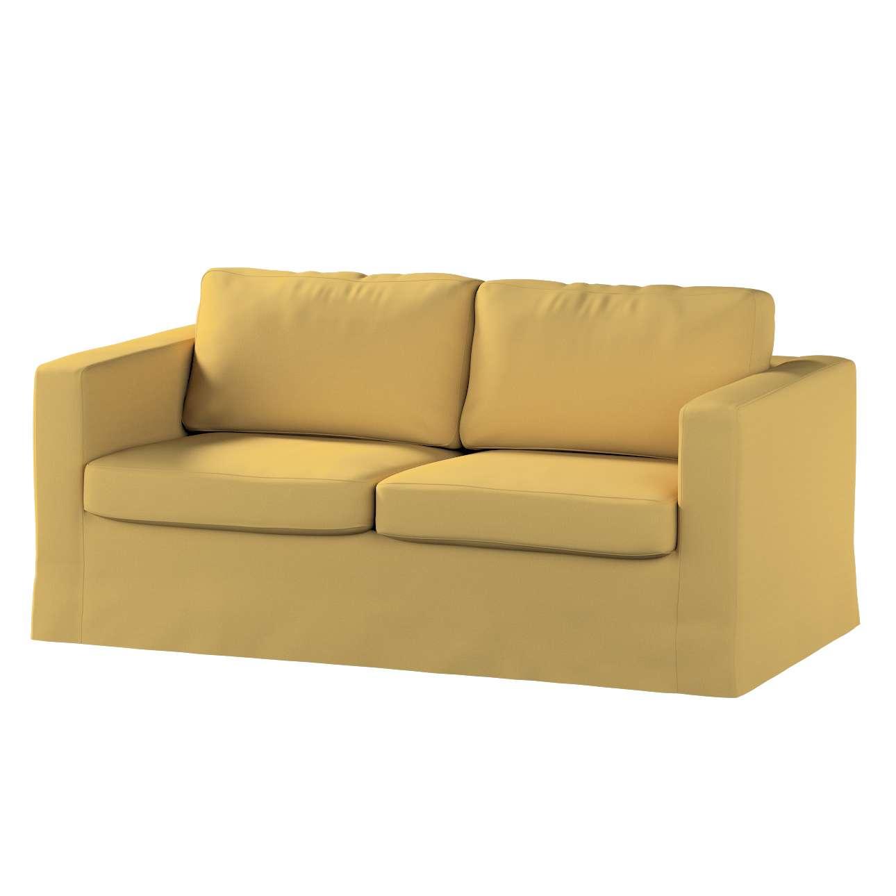 Pokrowiec na sofę Karlstad 2-osobową nierozkładaną długi w kolekcji Cotton Panama, tkanina: 702-41