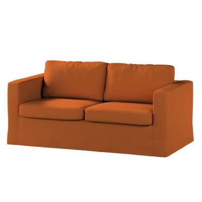 Floor length Karlstad 2-seater sofa cover 702-42 caramel Collection Panama Cotton