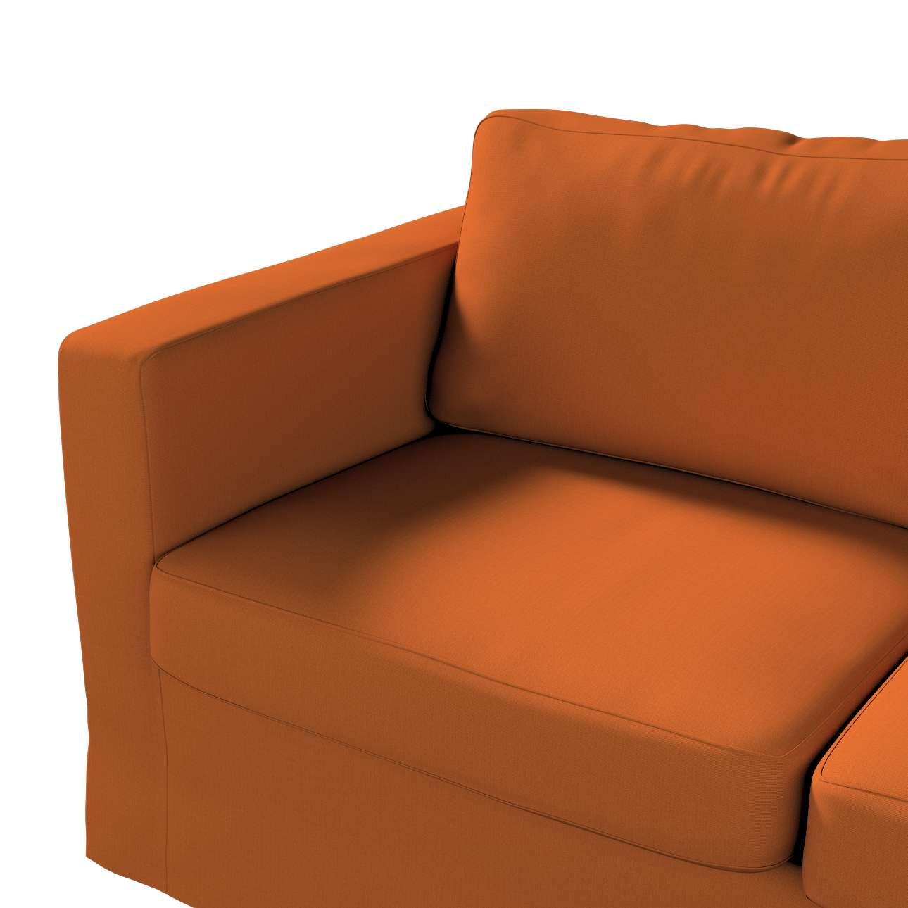 Pokrowiec na sofę Karlstad 2-osobową nierozkładaną długi w kolekcji Cotton Panama, tkanina: 702-42