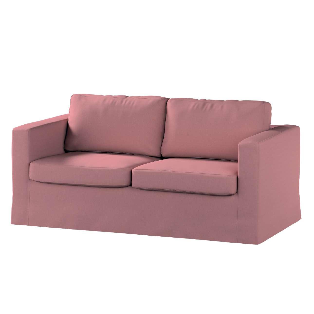 Pokrowiec na sofę Karlstad 2-osobową nierozkładaną długi w kolekcji Cotton Panama, tkanina: 702-43