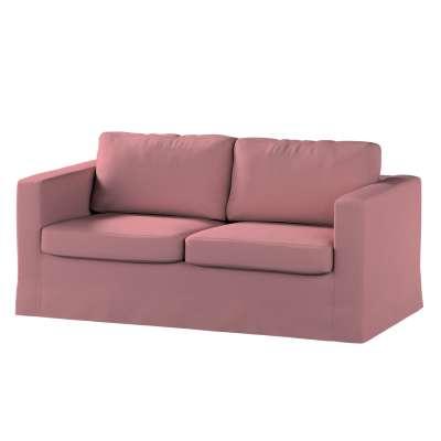 Potah na pohovku IKEA  Karlstad 2-místná , nerozkládací, dlouhý 702-43 zgaszony róż Kolekce Cotton Panama