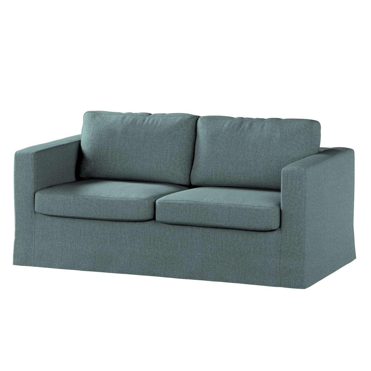 Pokrowiec na sofę Karlstad 2-osobową nierozkładaną długi w kolekcji City, tkanina: 704-85