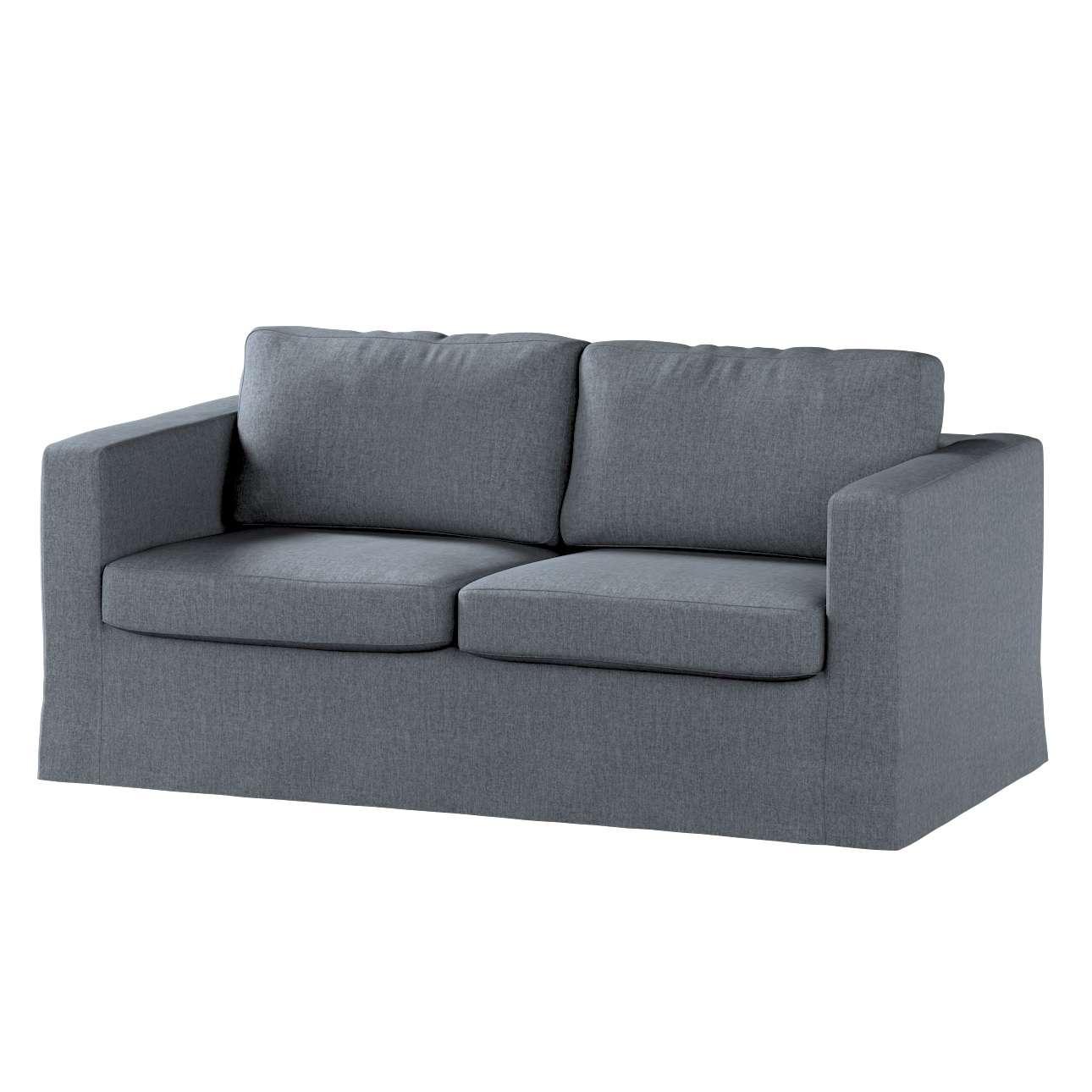 Pokrowiec na sofę Karlstad 2-osobową nierozkładaną długi w kolekcji City, tkanina: 704-86