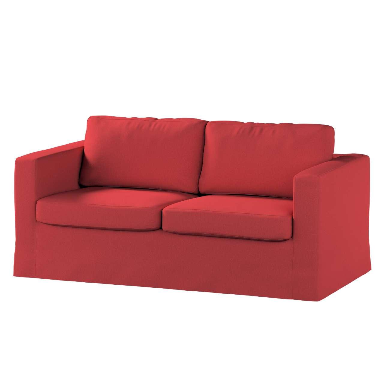 Pokrowiec na sofę Karlstad 2-osobową nierozkładaną długi w kolekcji Living, tkanina: 161-56