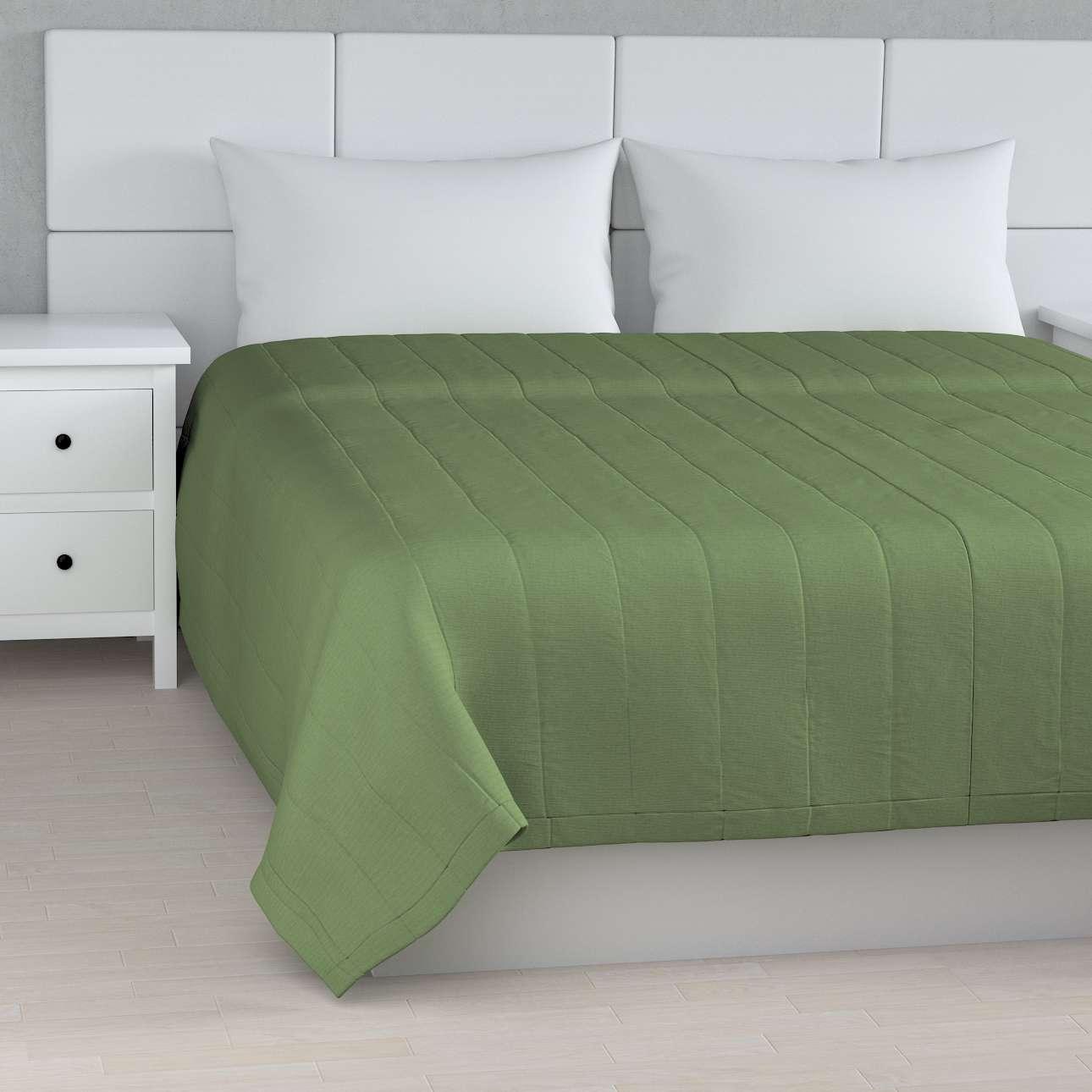 Tagesdecke mit Streifen-Steppung, grün, 170 × 210 cm, Jupiter | Heimtextilien > Decken und Kissen > Tagesdecken und Bettüberwürfe | Dekoria