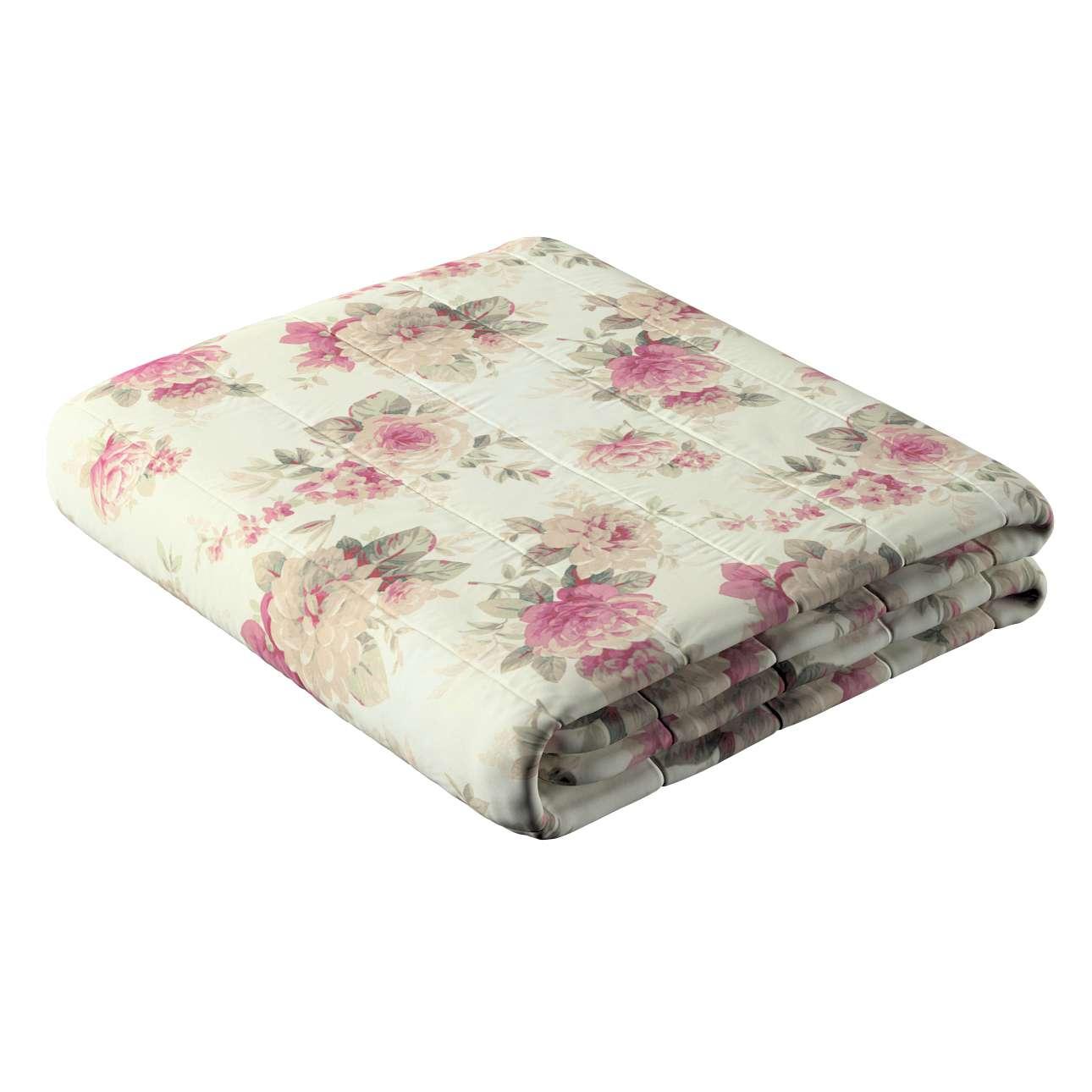 Narzuta pikowana w pasy w kolekcji Mirella, tkanina: 141-07