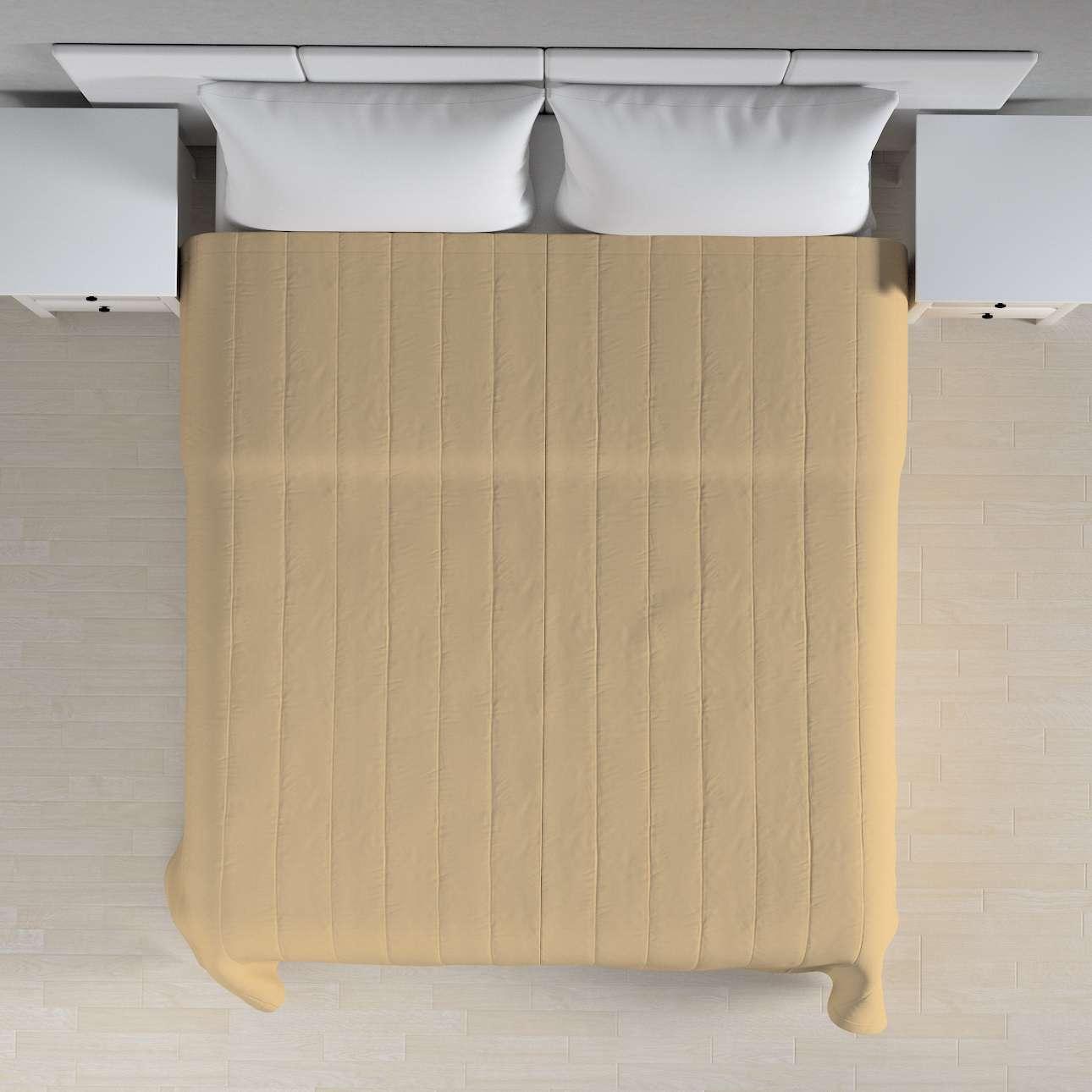 Narzuta pikowana w pasy szer.260 x dł.210 cm w kolekcji Cotton Panama, tkanina: 702-01