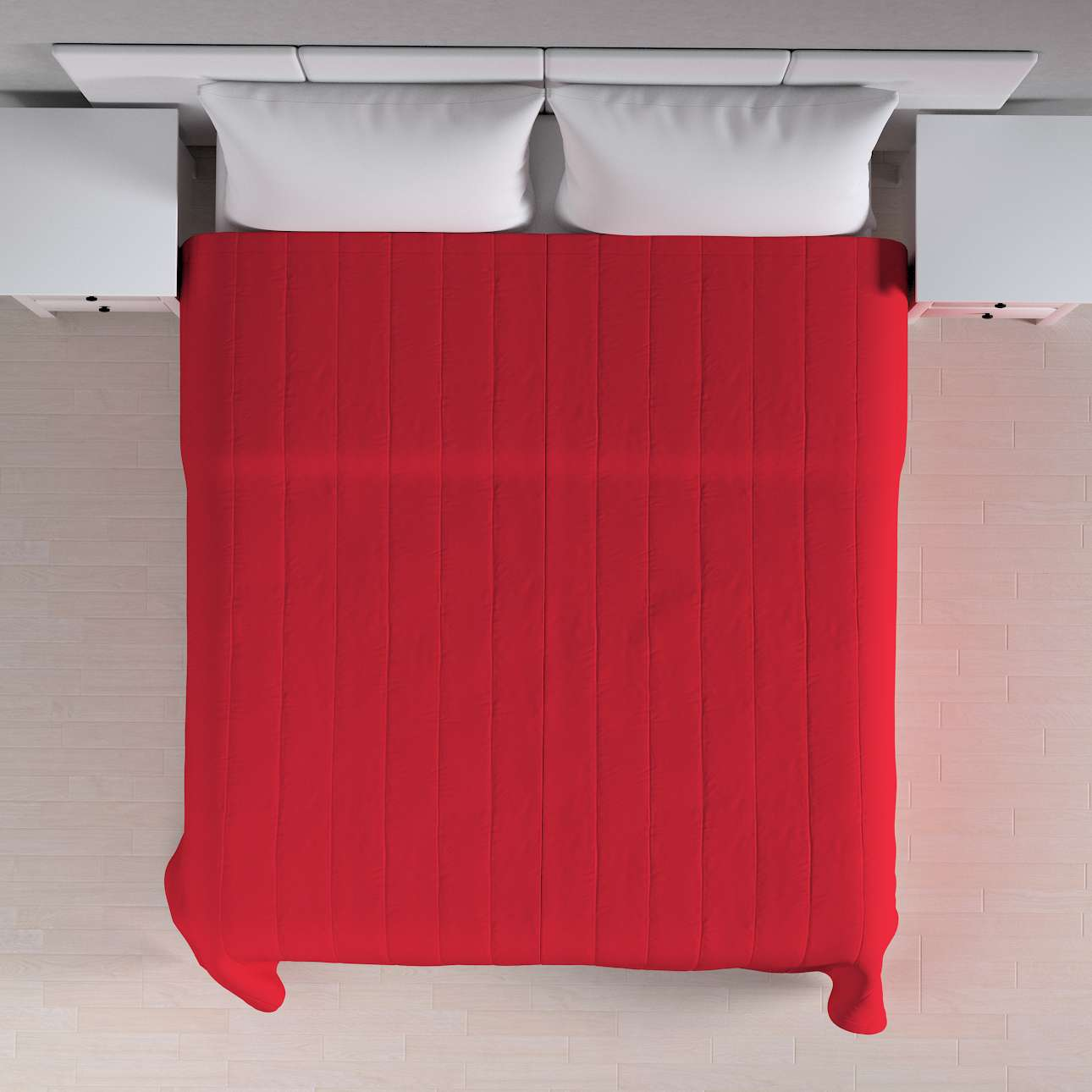 Sengetæppe quiltet<br/>10cm striber 260 × 210 cm fra kollektionen Cotton Panama, Stof: 702-04