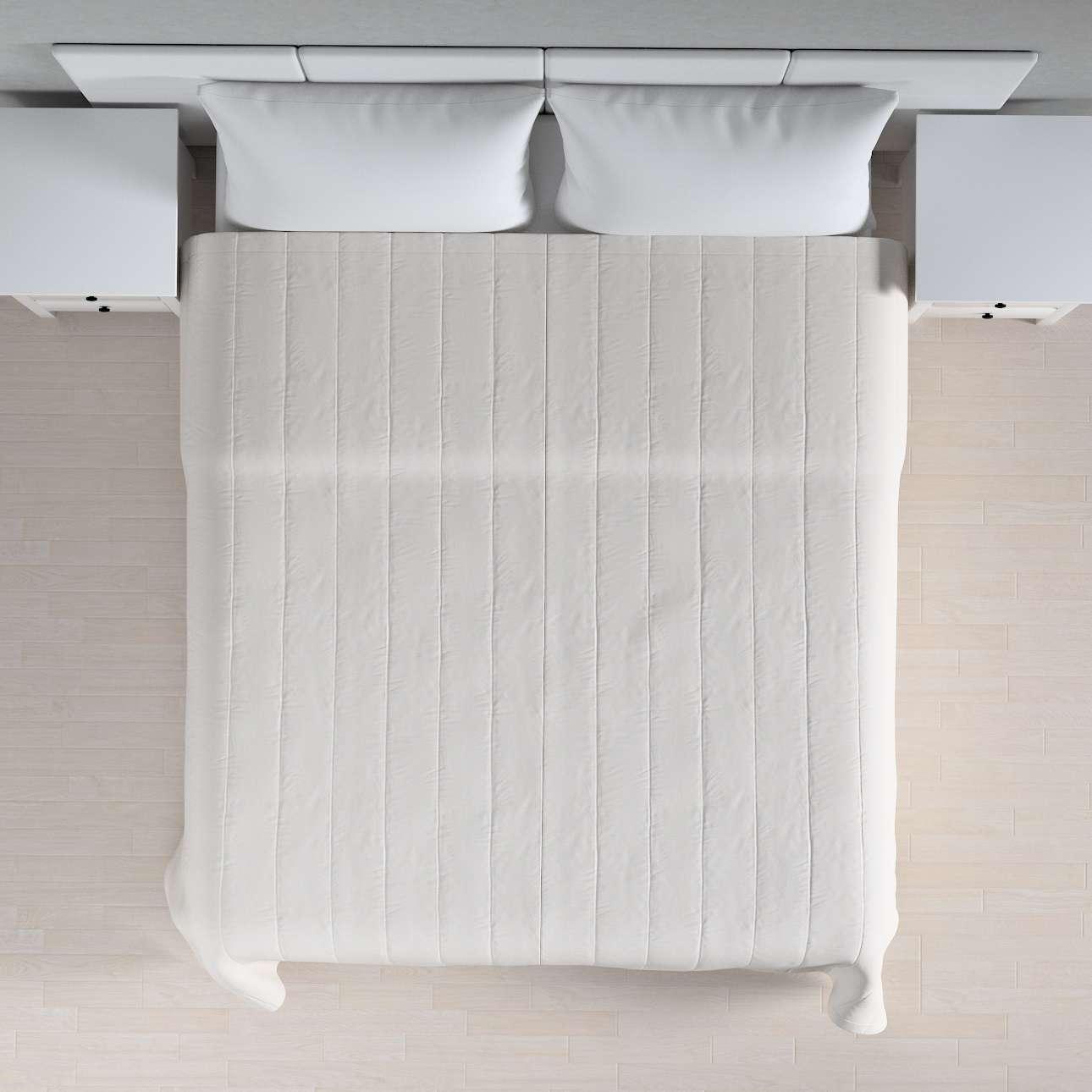 Sengetæppe quiltet<br/>10cm striber 120g/m 260 x 210 cm fra kollektionen Linen, Stof: 392-04