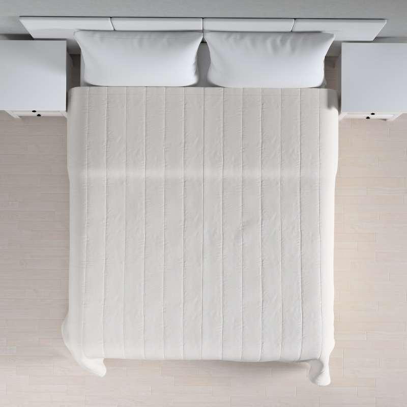 Sengeteppe quiltet<br/>10cm striper fra kolleksjonen Linen, Stoffets bredde: 392-04