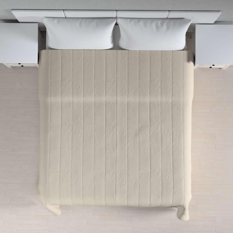 Narzuta pikowana w pasy w kolekcji Linen, tkanina: 392-05
