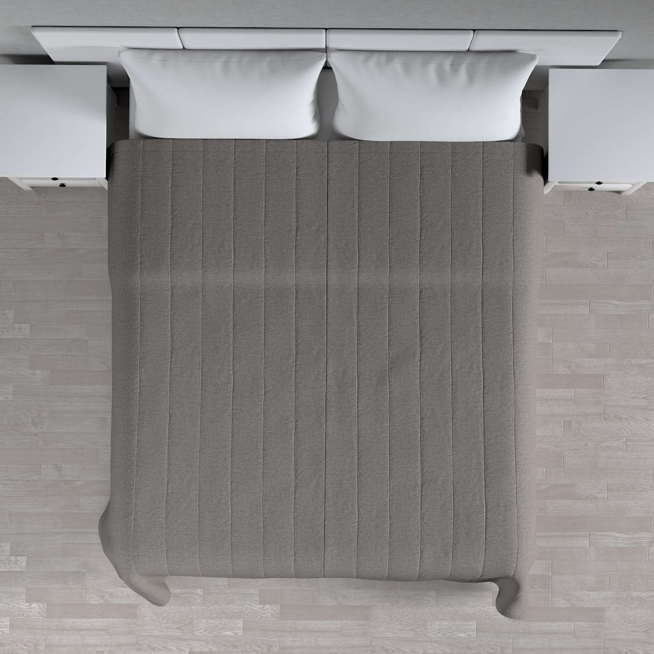 Sengetæppe quiltet<br/>10cm striber 260 × 210 cm fra kollektionen Edinburgh, Stof: 115-77