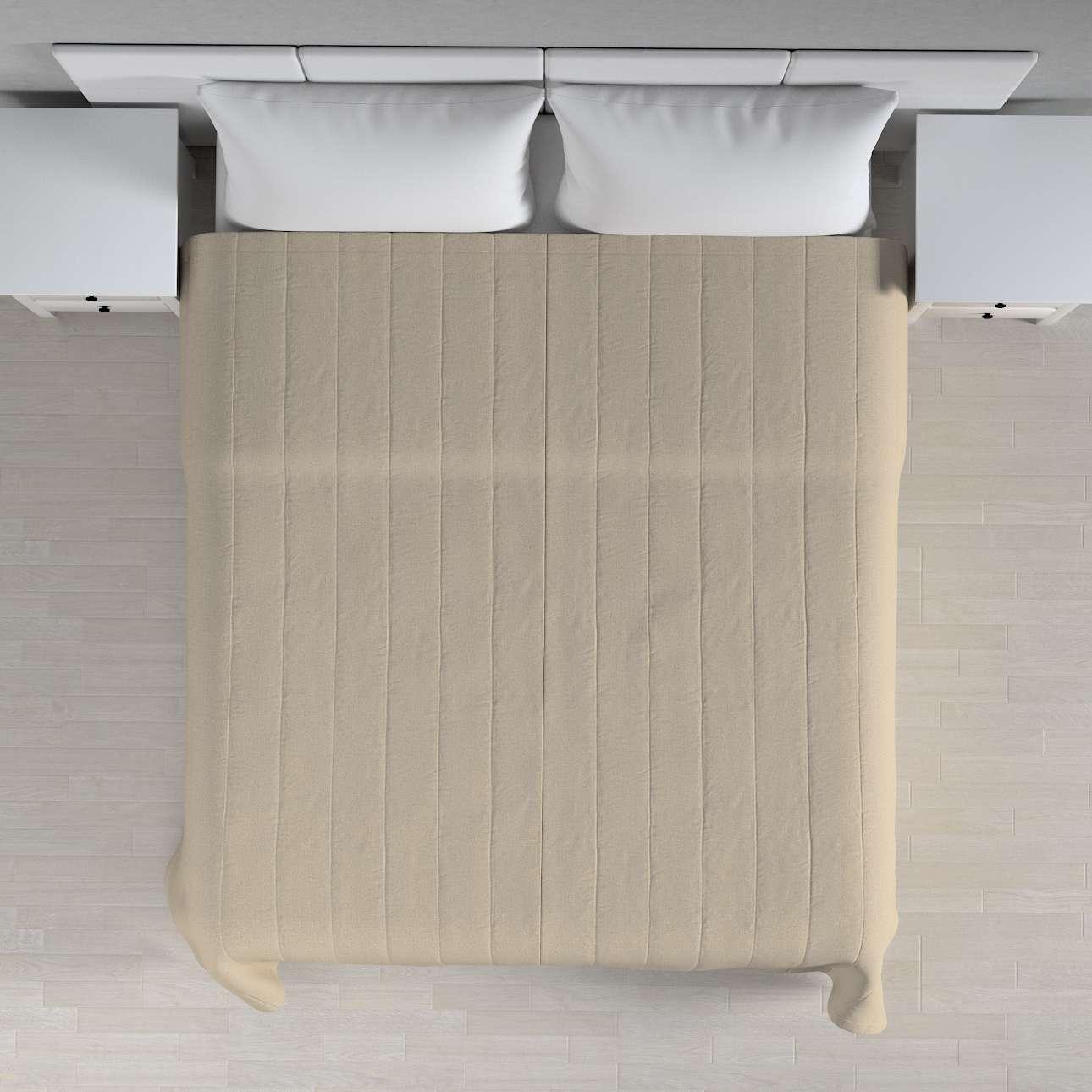 Sengetæppe quiltet<br/>10cm striber 260 × 210 cm fra kollektionen Edinburgh, Stof: 115-78