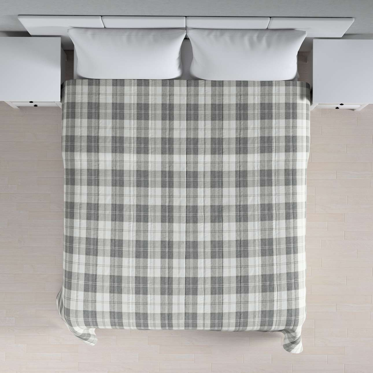 Quilted throw (vertical quilt pattern) 260 x 210 cm (102 x 83 inch) in collection Edinburgh , fabric: 115-79