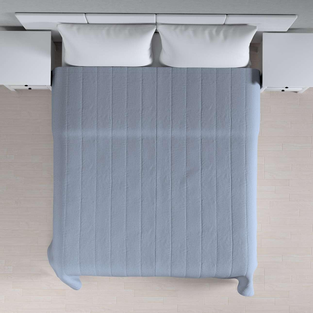 Sengetæppe quiltet<br/>10cm striber 120g/m 260 x 210 cm fra kollektionen Chenille, Stof: 702-13