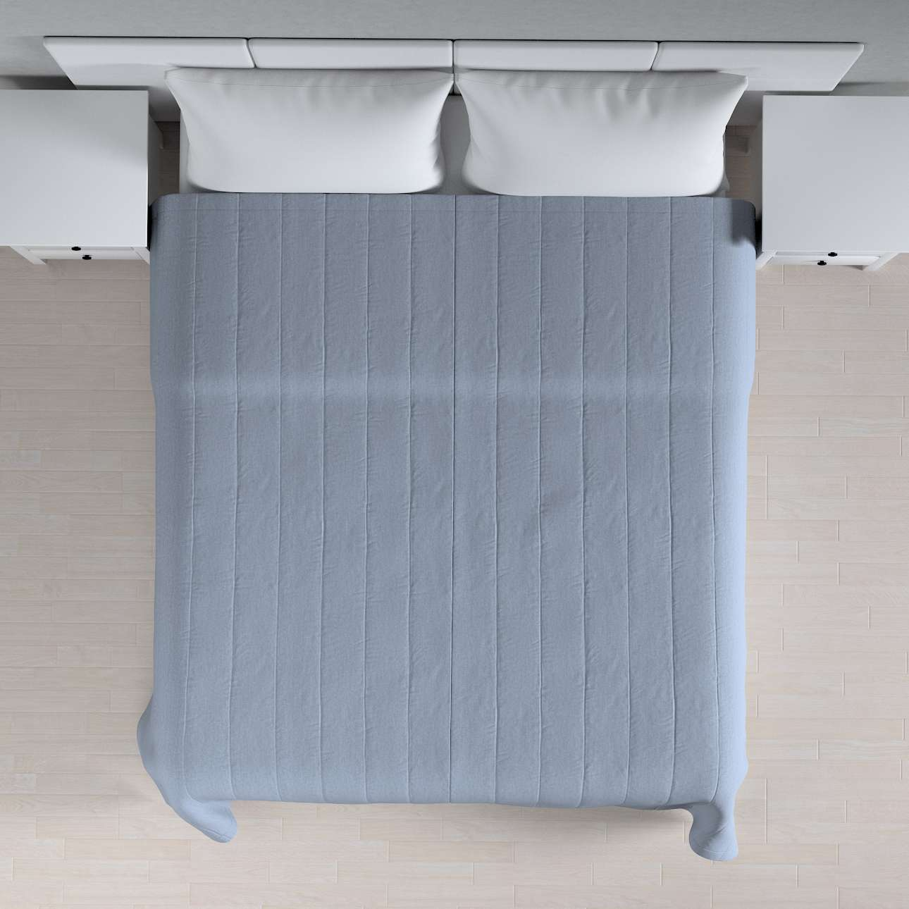 Sengeteppe quiltet<br/>10cm striper 120g/m2 260 x 210 cm fra kolleksjonen Chenille, Stoffets bredde: 702-13