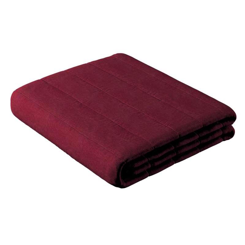 Sengetæppe quiltet<br/>10cm striber fra kollektionen Chenille, Stof: 702-19