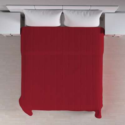 Sengetæppe quiltet<br/>10cm striber 702-24 Rød Kollektion Chenille
