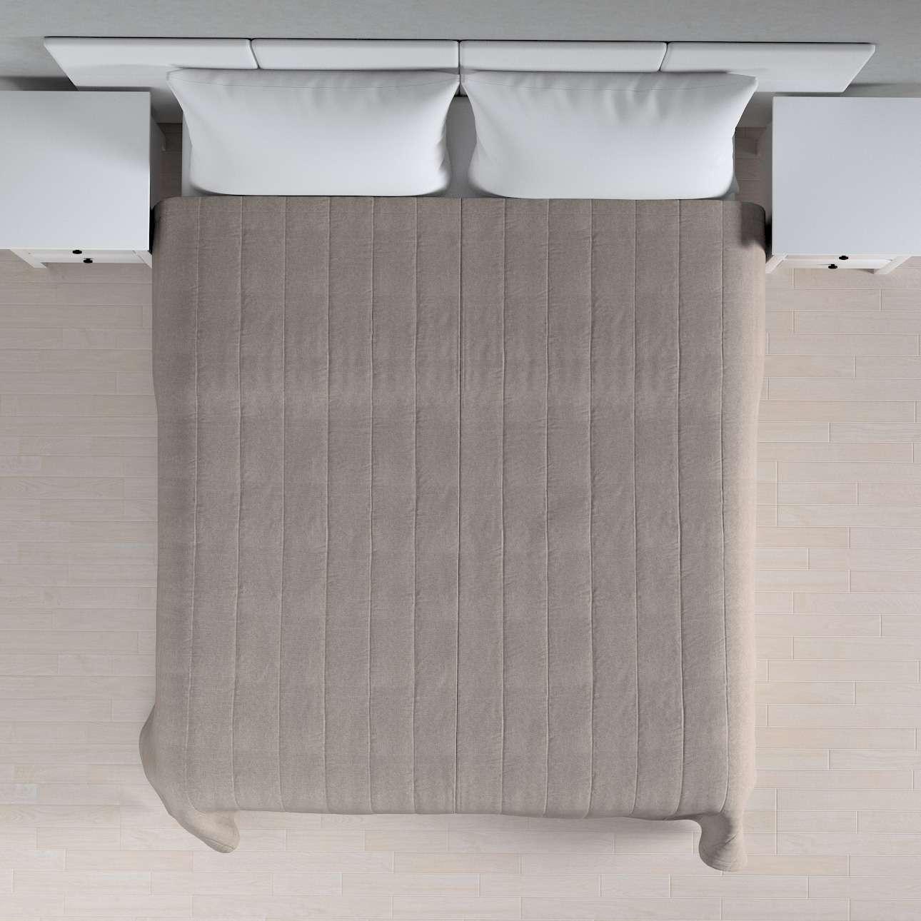Sengetæppe quiltet<br/>10cm striber 260 x 210 cm fra kollektionen Etna, Stof: 705-09