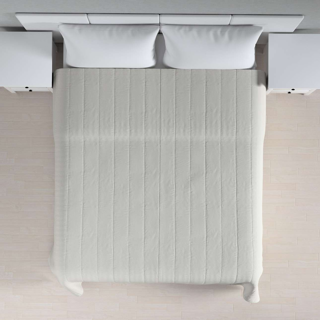 Sengetæppe quiltet<br/>10cm striber fra kollektionen Etna, Stof: 705-90