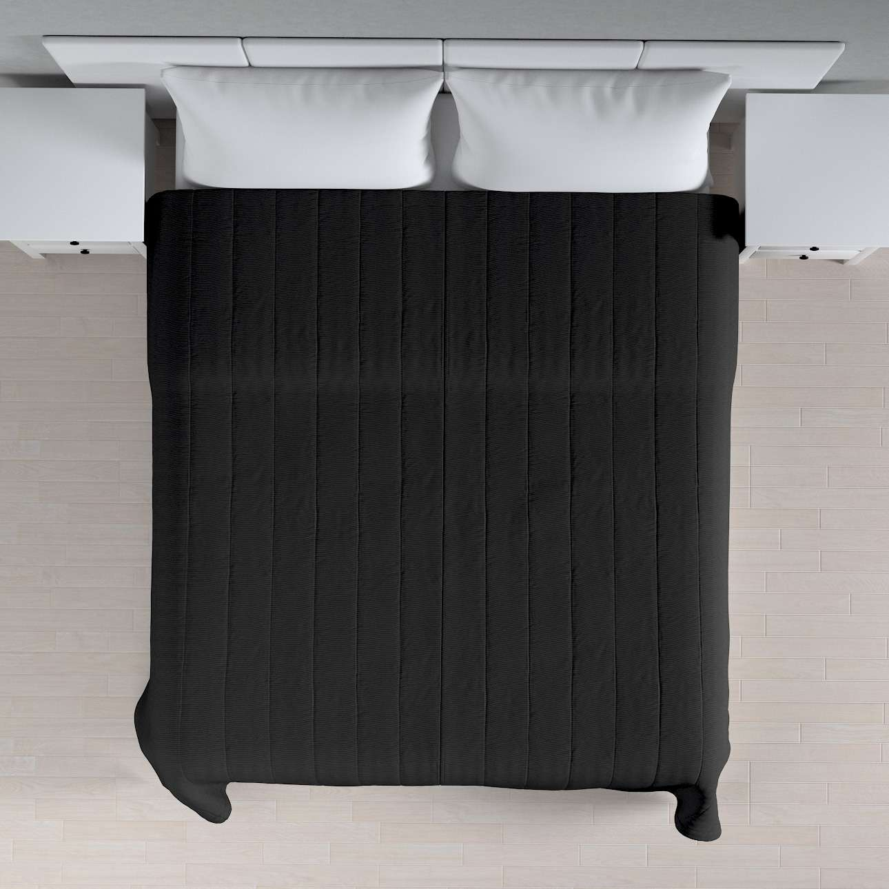 Sengeteppe quiltet<br/>10cm striper 120g/m2 260 x 210 cm fra kolleksjonen Etna - Ikke for gardiner, Stoffets bredde: 705-00