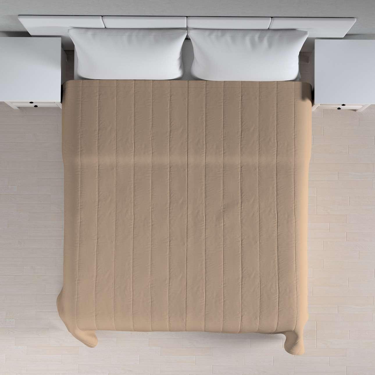 Sengeteppe quiltet<br/>10cm striper 120g/m2 260 x 210 cm fra kolleksjonen Cotton Panama, Stoffets bredde: 702-28