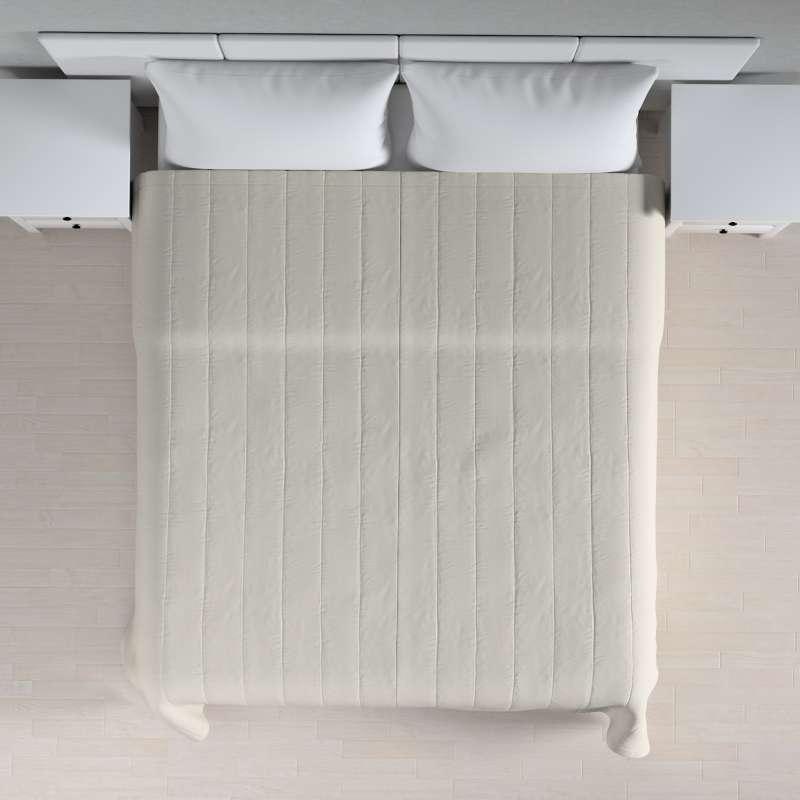 Sengetæppe quiltet<br/>10cm striber fra kollektionen Cotton Panama, Stof: 702-31
