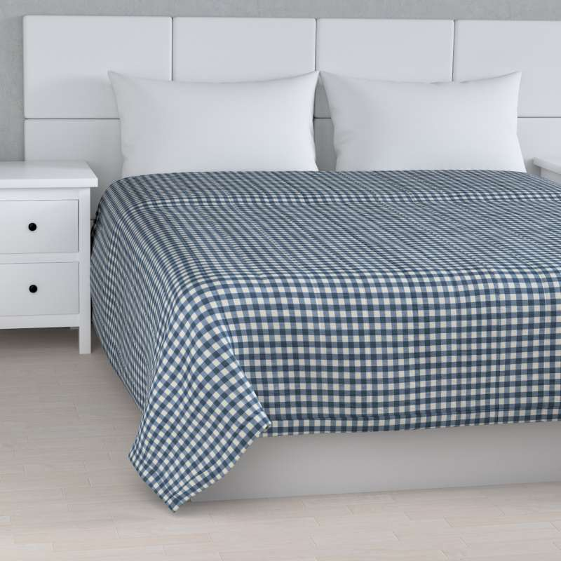 Stripe quilted throw in collection Quadro, fabric: 136-01