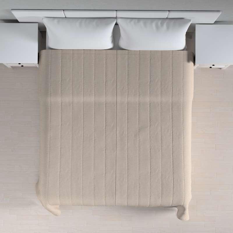 Narzuta pikowana w pasy w kolekcji Quadro, tkanina: 136-05