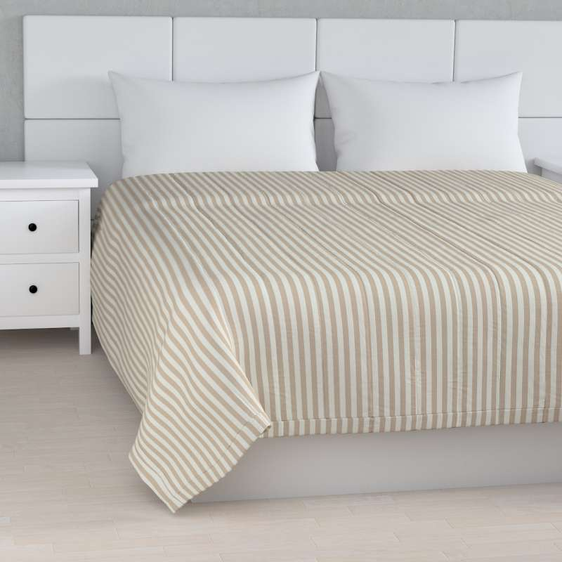 Stripe quilted throw in collection Quadro, fabric: 136-07