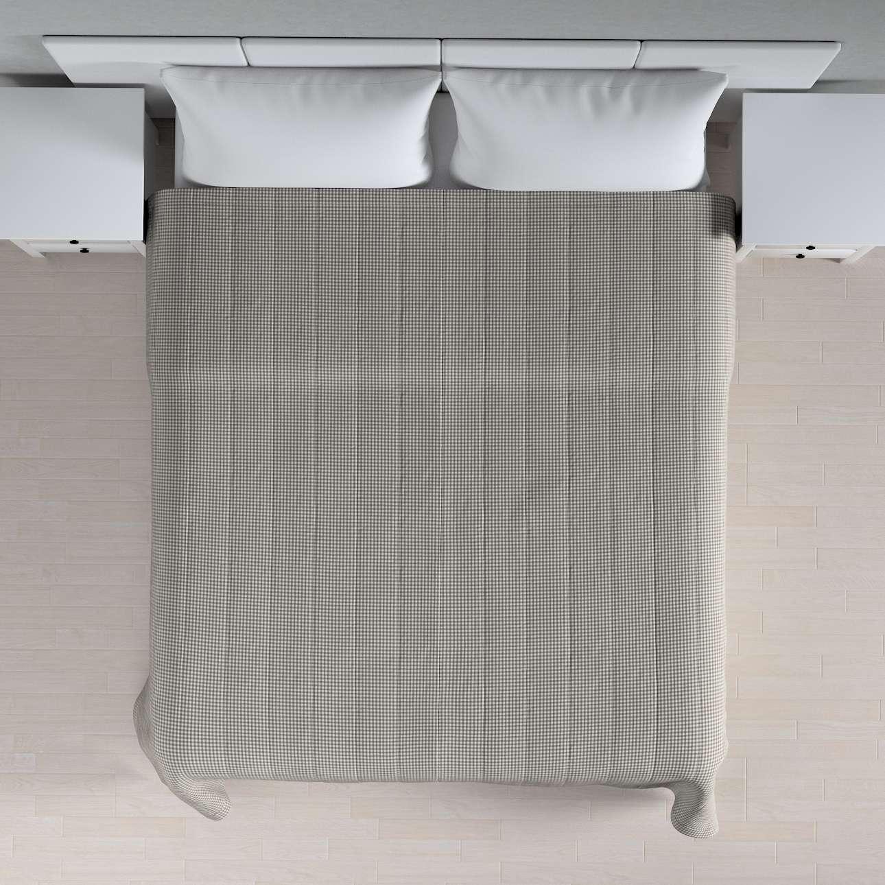 Narzuta pikowana w pasy szer.260 x dł.210 cm w kolekcji Quadro, tkanina: 136-10