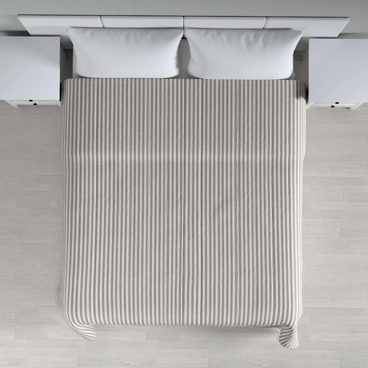 Sengeteppe quiltet<br/>10cm striper 260 x 210 cm fra kolleksjonen Quadro, Stoffets bredde: 136-12