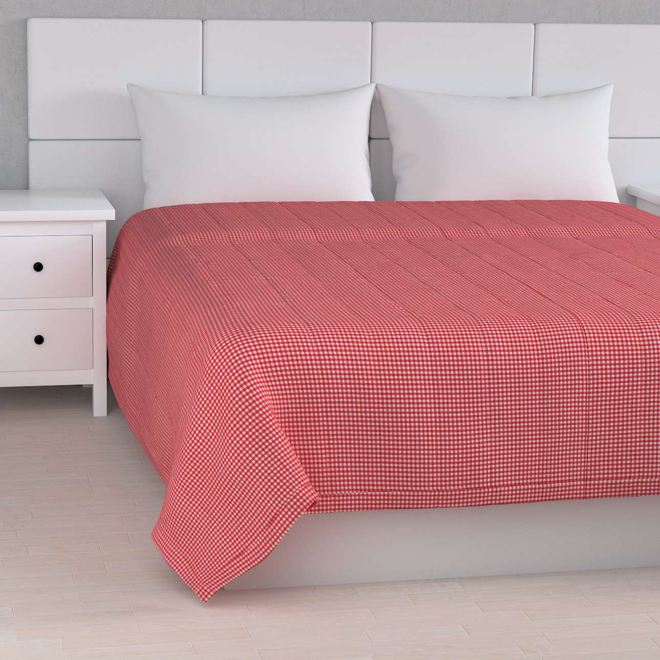 Sengeteppe quiltet<br/>10cm striper 260 × 210 cm fra kolleksjonen Quadro, Stoffets bredde: 136-15