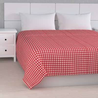Stripe quilted throw 136-16 red and white check (1.5cm x 1.5cm) Collection Quadro
