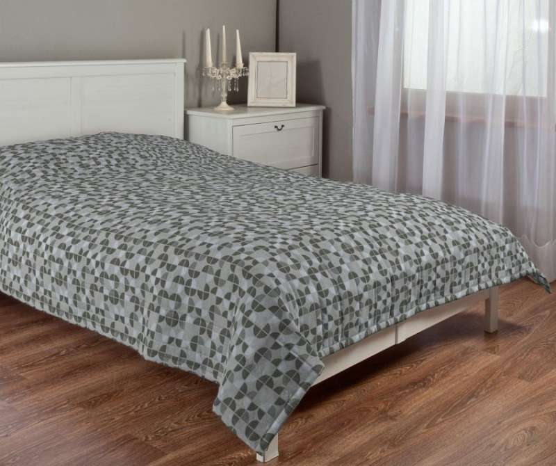 Stripe quilted throw in collection SALE, fabric: 138-20
