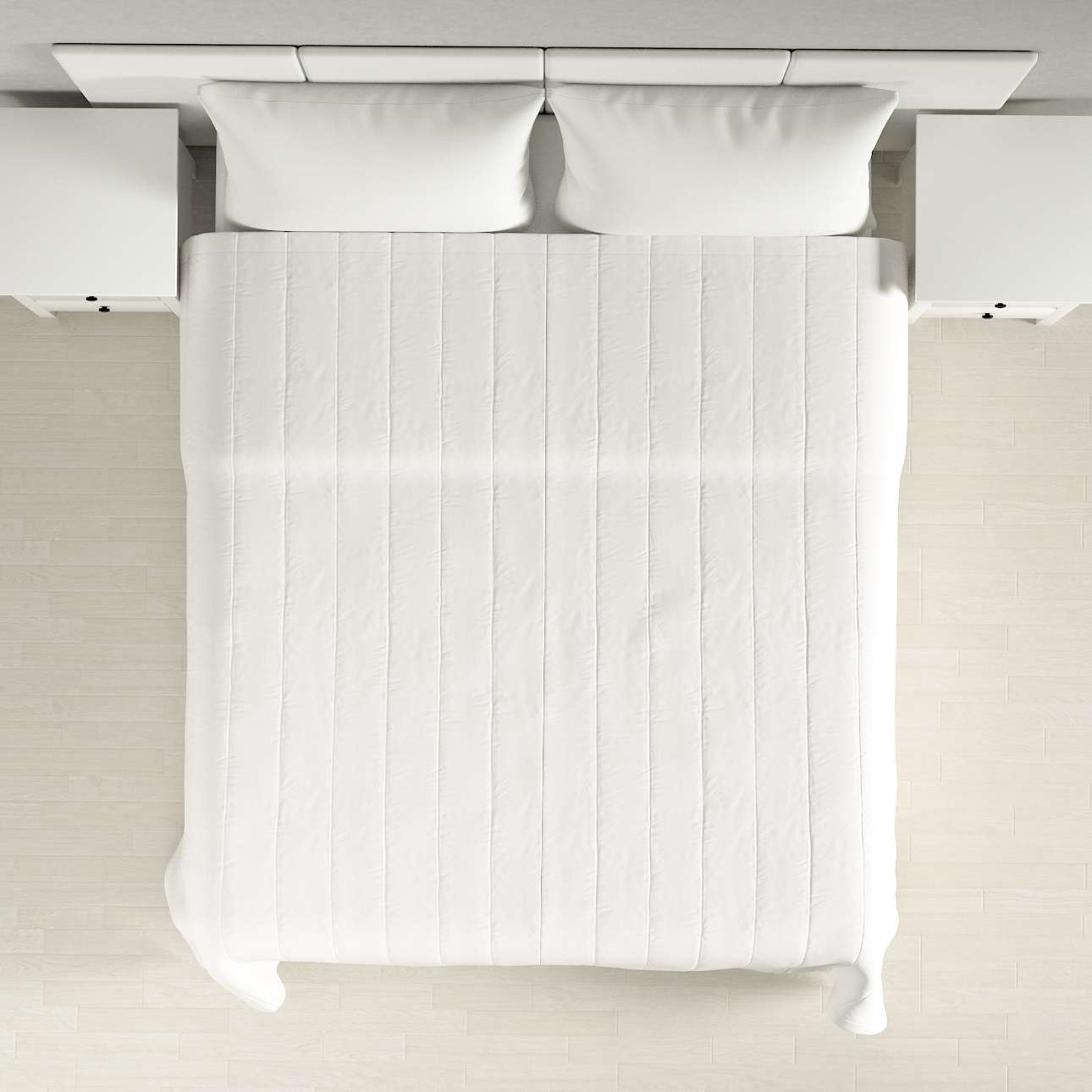 Lovatiesės (vertikaliai dygsniuotos) plotis 260 x ilgis  210 cm kolekcijoje Cotton Panama, audinys: 702-34