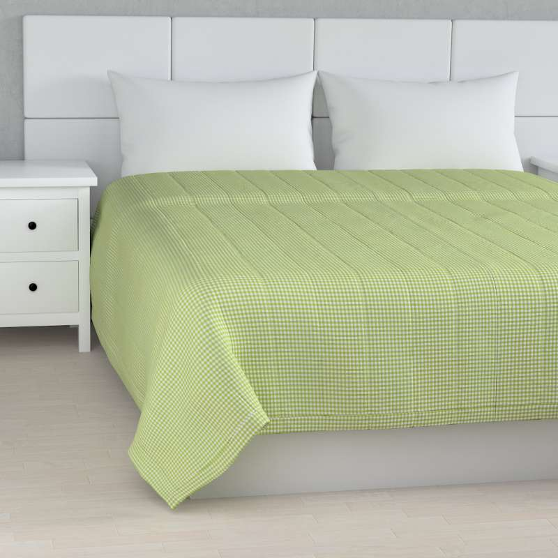 Stripe quilted throw in collection Quadro, fabric: 136-33