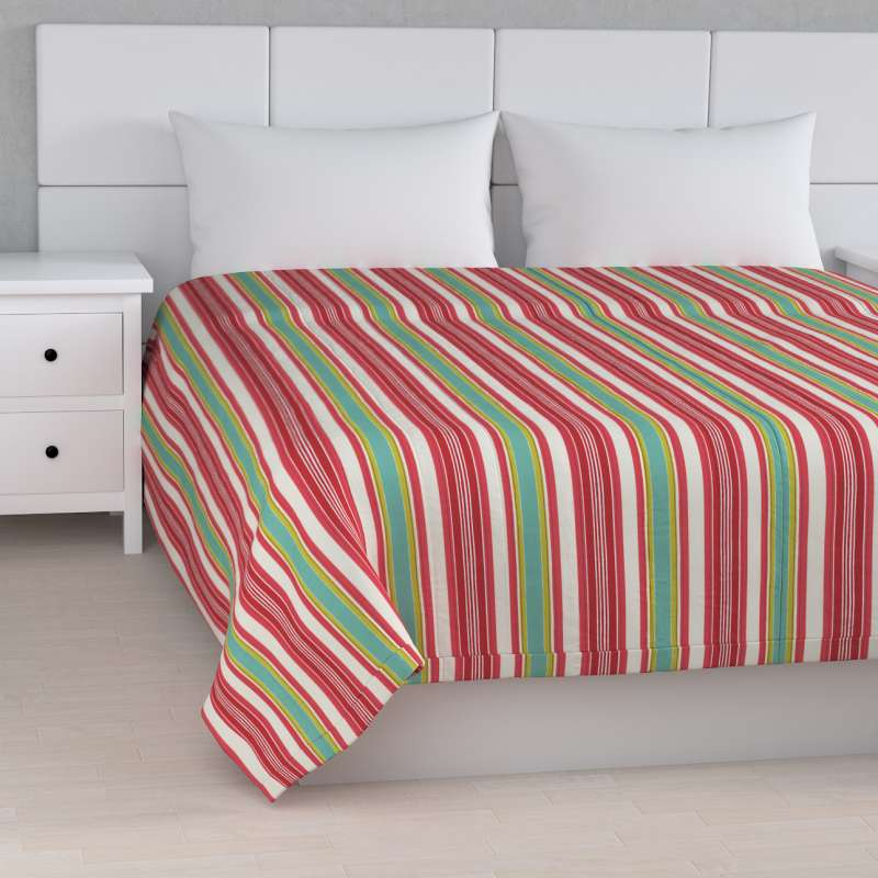 Stripe quilted throw in collection Londres, fabric: 122-01
