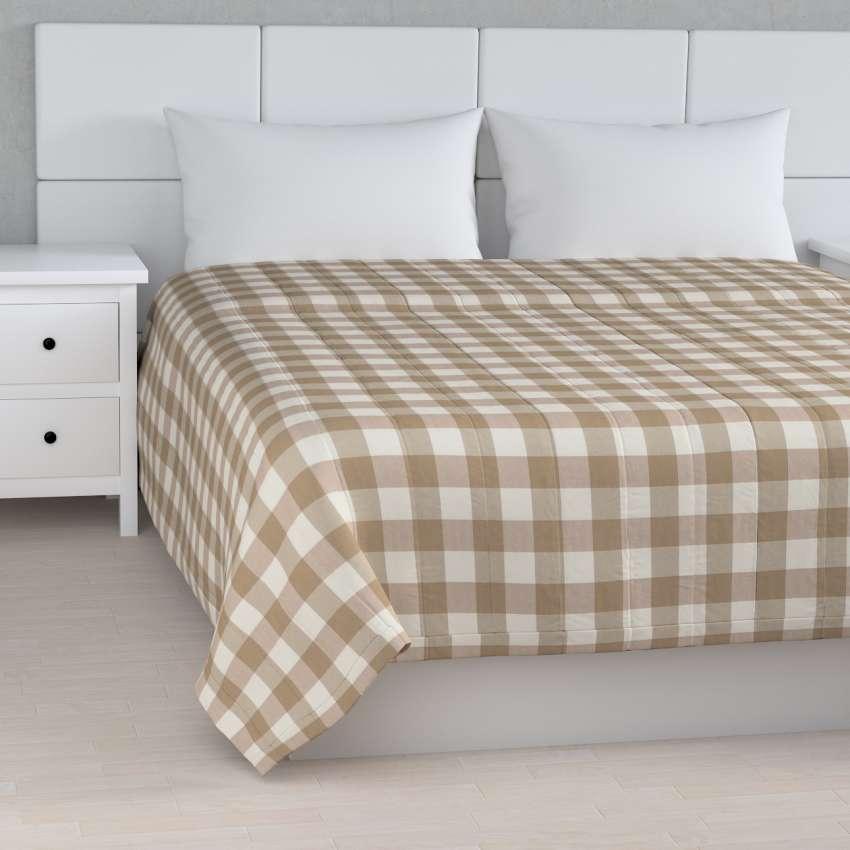 einfacher berwurf weiss beige kariert 260 x 210 cm dekoria. Black Bedroom Furniture Sets. Home Design Ideas