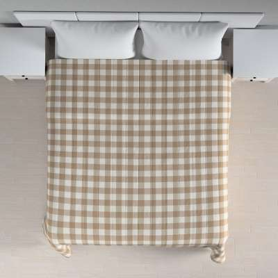 Stripe quilted throw 136-08 beige and white check (5.5cm x 5.5cm) Collection Quadro