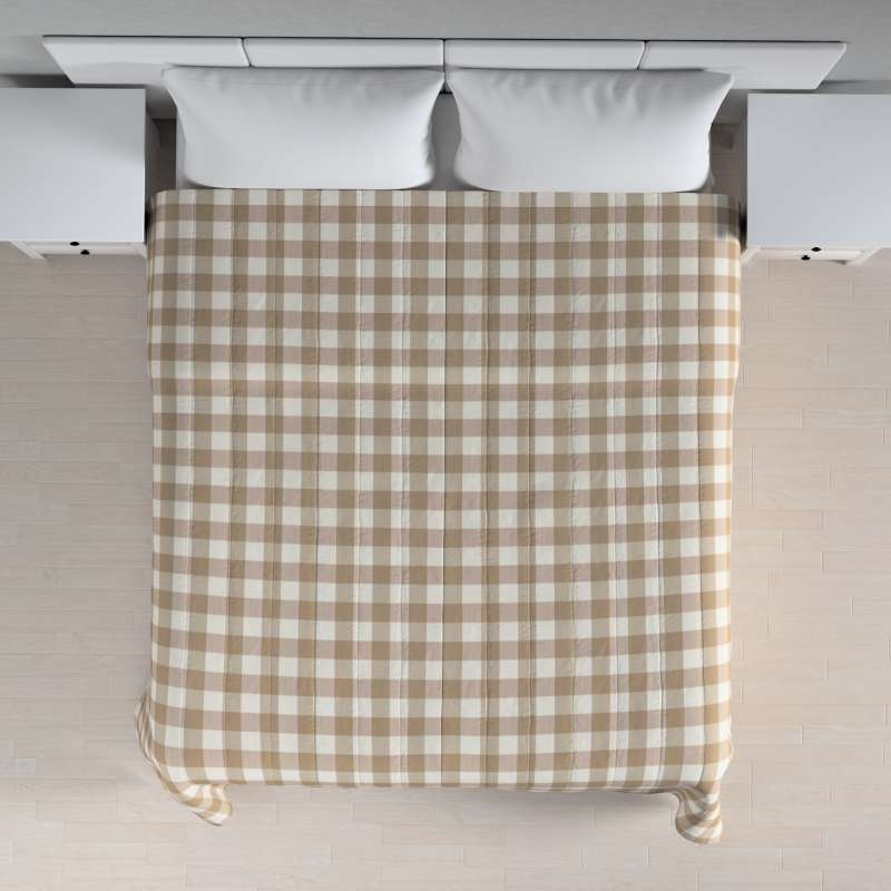 Stripe quilted throw in collection Quadro, fabric: 136-08