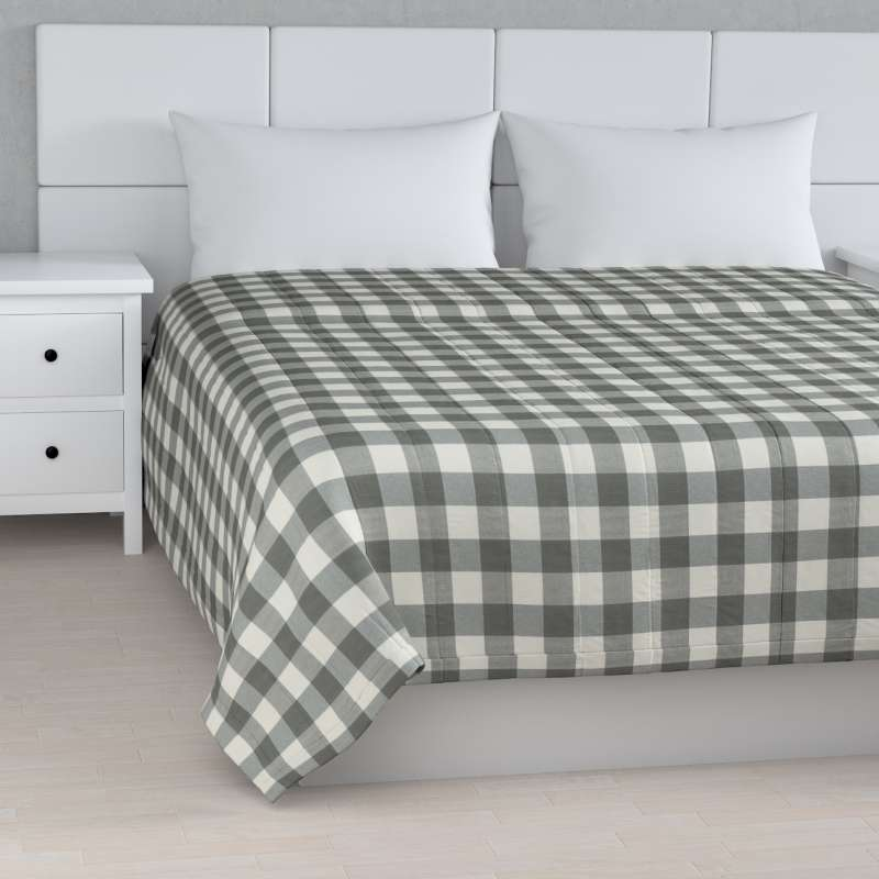 Stripe quilted throw in collection Quadro, fabric: 136-13