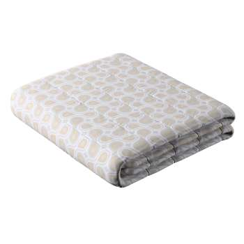 Stripe quilted throw in collection Flowers, fabric: 311-11