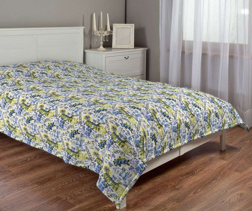 Quilted throw (vertical quilt pattern) 260 x 210 cm (102 x 83 inch) in collection Freestyle, fabric: 135-08